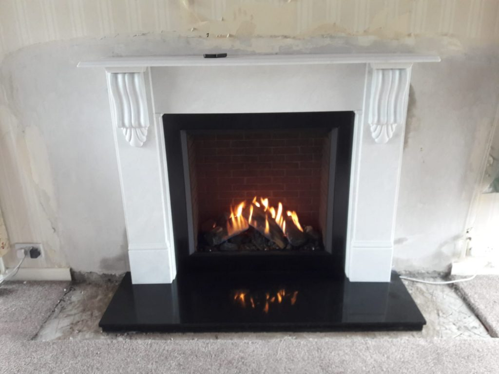 gazco, gas, fire, Newtownards, Bangor, Belfast, Reflex 75T, Modern, Natural gas, LPG gas, Modern gas fire, traditional gas fire, log effect